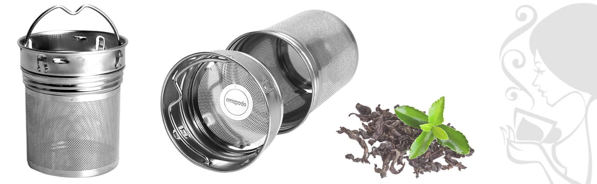 Coladores con asa para el té